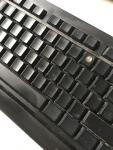 schwarze Tastatur ohne Tastenbeschriftung